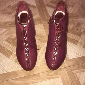 Authentic Christian Dior Burgundy leather booties